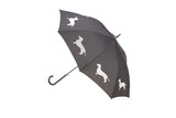 Dog Umbrella - Dachshund (White on Black) - FurMinded