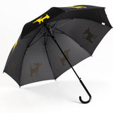 Dog Umbrella - Chihuahua (Gold on Black)