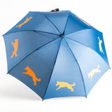 Dog Umbrella - German Shepherd (Orange on Navy Blue)