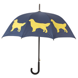 Dog Umbrella - Golden Retriever (Gold on Navy Blue)