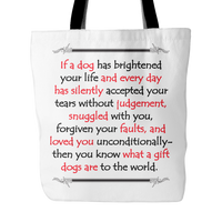 Dog Themed Tote Bag - If A Dog Has Brightened Your Day