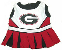 Georgia Bulldogs Cheerleader Dog Dress - FurMinded