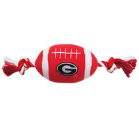 Georgia Bulldogs Plush Football Dog Toy - FurMinded