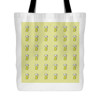 Cat Themed Tote Bag - Cats In Yellow On Yellow