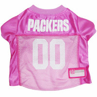 Green Bay Packers Dog Jersey - Pink - FurMinded