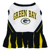 Green Bay Packers Cheerleader Dog Dress - FurMinded