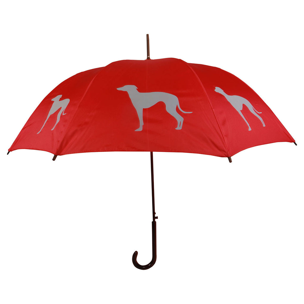 Greyhound Umbrella (Gray on Orange)