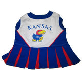 Kansas Jayhawks Cheerleader Dog Dress - FurMinded