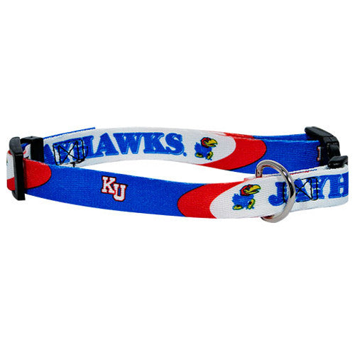 Kansas Jayhawks Dog Collar - FurMinded