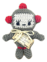 Knit Knacks - Baby Bot Organic Cotton Dog Toy - FurMinded
