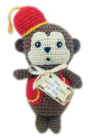 Knit Knacks - Fez Monkey Organic Cotton Dog Toy - FurMinded