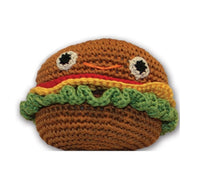 Knit Knacks - Hamburger Organic Cotton Dog Toy - FurMinded