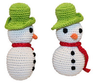 Knit Knacks - Holiday Frost The Snowman Organic Cotton Dog Toy - FurMinded