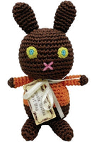 Knit Knacks - Chocolate Bunny Organic Cotton Dog Toy - FurMinded