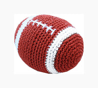 Knit Knacks - Snap the Football Organic Cotton Dog Toy - FurMinded