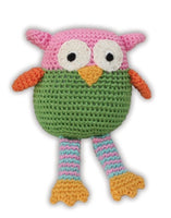 Knit Knacks - Wise Guy Owl Organic Cotton Dog Toy - FurMinded