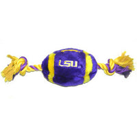 LSU Tigers Plush Football Dog Toy - FurMinded