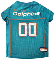 Miami Dolphins Dog Jersey - MESH Orange Trim - FurMinded