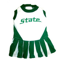 Michigan State Spartans Cheerleader Dog Dress - FurMinded