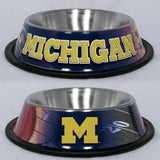Michigan Wolverines Dog Bowl