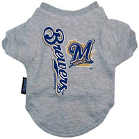 Milwaukee Brewers Dog Tee Shirt - FurMinded