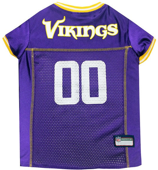Minnesota Vikings Dog Jersey - MESH Yellow Trim - FurMinded