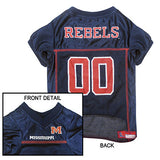 Mississippi Rebels Dog Jersey - FurMinded