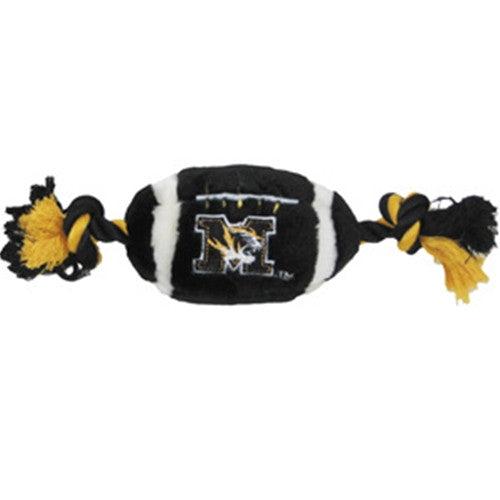 Missouri Tigers Plush Football Dog Toy - FurMinded