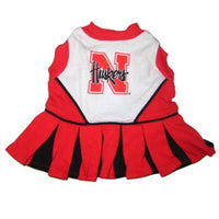 Nebraska Huskers Cheerleader Dog Dress - FurMinded