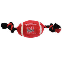 Nebraska Huskers Plush Football Dog Toy - FurMinded