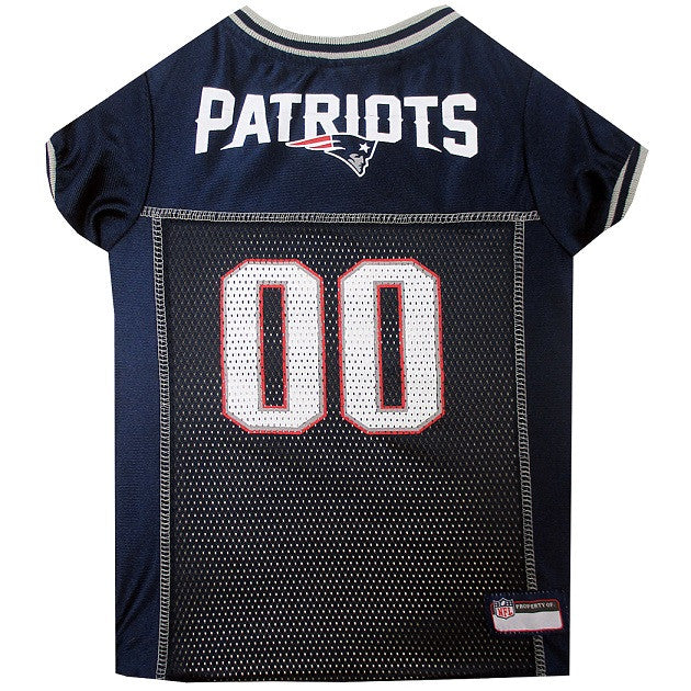 New England Patriots Dog Jersey - MESH Gray Trim - FurMinded