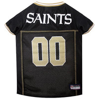 New Orleans Saints Dog Jersey - MESH Gold Trim - FurMinded