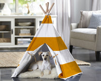 Pet Teepee - Orange Stripe - FurMinded