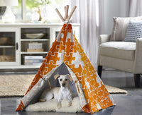 Pet Teepee - Orange Puzzle - FurMinded