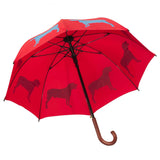 Dog Umbrella - Pit Bull Terrier (Royal Blue on Red)