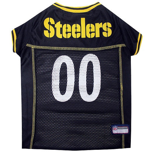 Pittsburgh Steelers Dog Jersey - MESH Yellow Trim - FurMinded