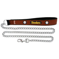 Pittsburgh Steelers Dog Leash - Leather - FurMinded