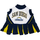 San Diego Chargers Cheerleader Dog Dress - FurMinded