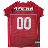 San Francisco 49ers Dog Jersey - MESH White Trim - FurMinded