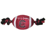 South Carolina Gamecocks Plush Football Dog Toy - FurMinded