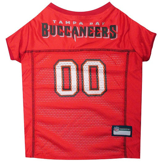 Tampa Bay Buccaneers Dog Jersey – MESH Red Trim - FurMinded