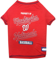 Washington Nationals Dog Tee Shirt - FurMinded