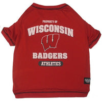 Wisconsin Badgers Dog T-Shirt - FurMinded