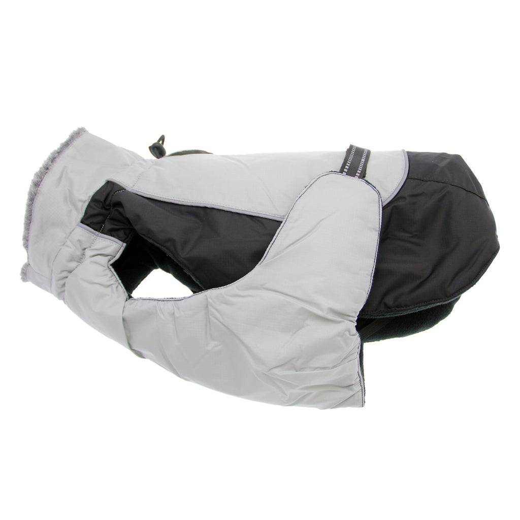 Black and Gray Alpine All Weather Dog Coat - FurMinded