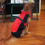 Designer Dog Coat - All Weather Alpine in Red and Black