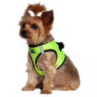 American River Dog Harness Top Stitch Collection - Iridescent Green - FurMinded