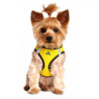 American River Dog Harness Top Stitch Collection - Vibrant Yellow - FurMinded