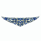Dog Bandana Animal Print Blue - FurMinded