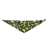 Dog Bandana Animal Print Green - FurMinded