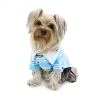 Dog Shirt - Aqua Blue Textured Polo Dog Shirt for Him - FurMinded
